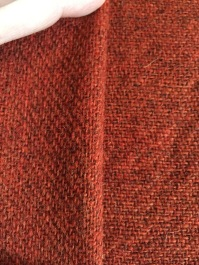 3 shaft twill- reconstruction of the Bocksten find, wool and plant dyed with madder