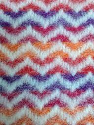Twill in V pattern