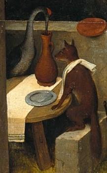 Detail from The Dutch Proverbs, Pieter Bruegel the Elder, 1559