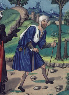 Allegory of Fortune and Poverty, De casibus (BNF Fr. 130, fol. 88), first quarter of the 16th century